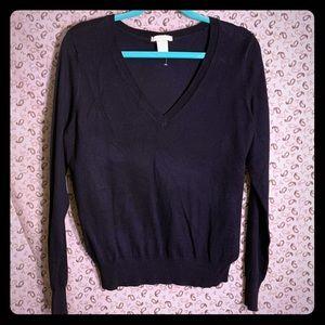 3/$25 Navy blue V neck sweater